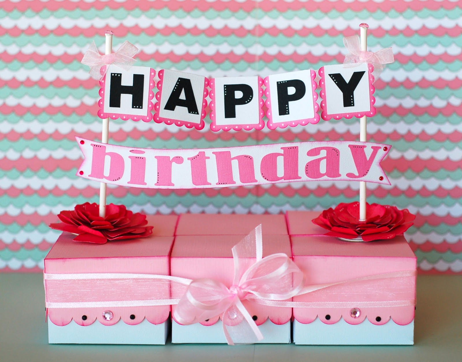 Paper Creations by Kristin: Happy Birthday Paper Cake (rectangle)
