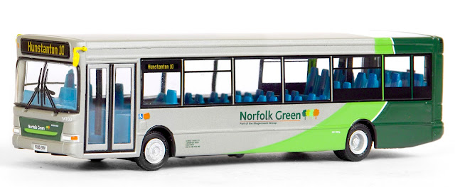 EFE 36712 - Plaxton SLF Dart - Norfolk Green The popularity of Norfolk Green has created much respect for the fleet which was recently acquired by Stagecoach. Registered PX05 EMV, fleet number 34700 is working route 10 to Hunstanton prior to being painted in Stagecoach livery. RRP £34.50