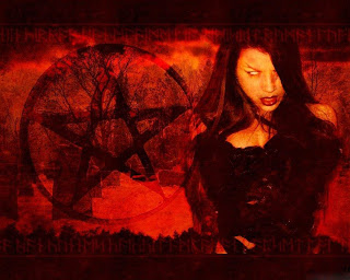 Satanic Gothic Girl Dark Gothic Wallpaper