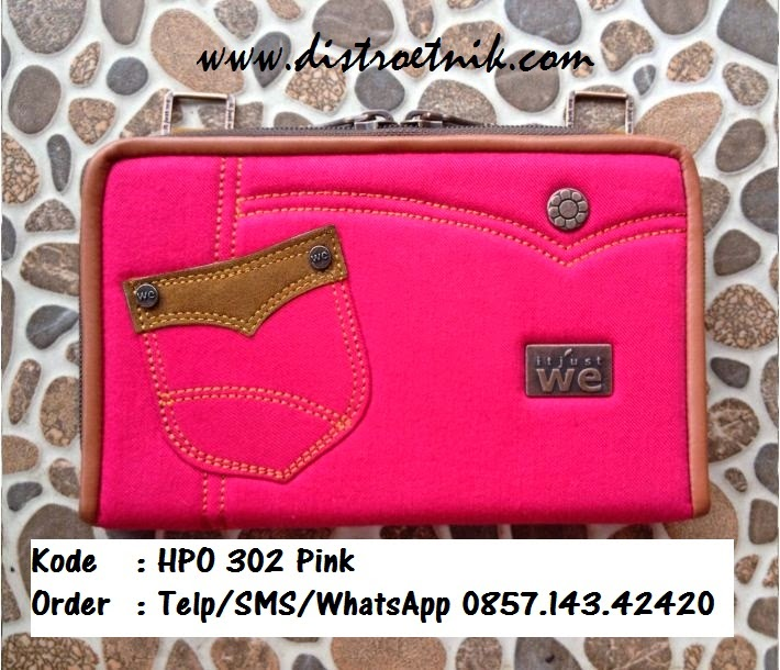 dompet hpo jeans it just we hpo 302 pink