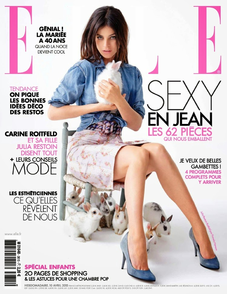 Model @ Julia Restoin Roitfeld by Pamela Hanson for Elle France, April 2015