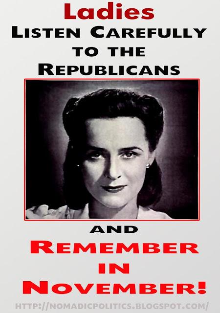 War on Women, Poster, Remember in November, Election, Nomadic Politics