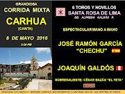 JOAQUÍN GALDOS EN CARHUA, CANTA