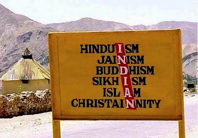 Indian is made up of all Religions as seen in the Image