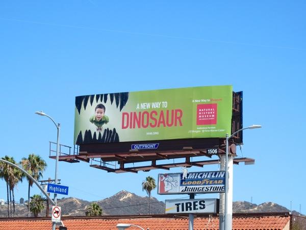 New Way to Dinosaur jaws billboard