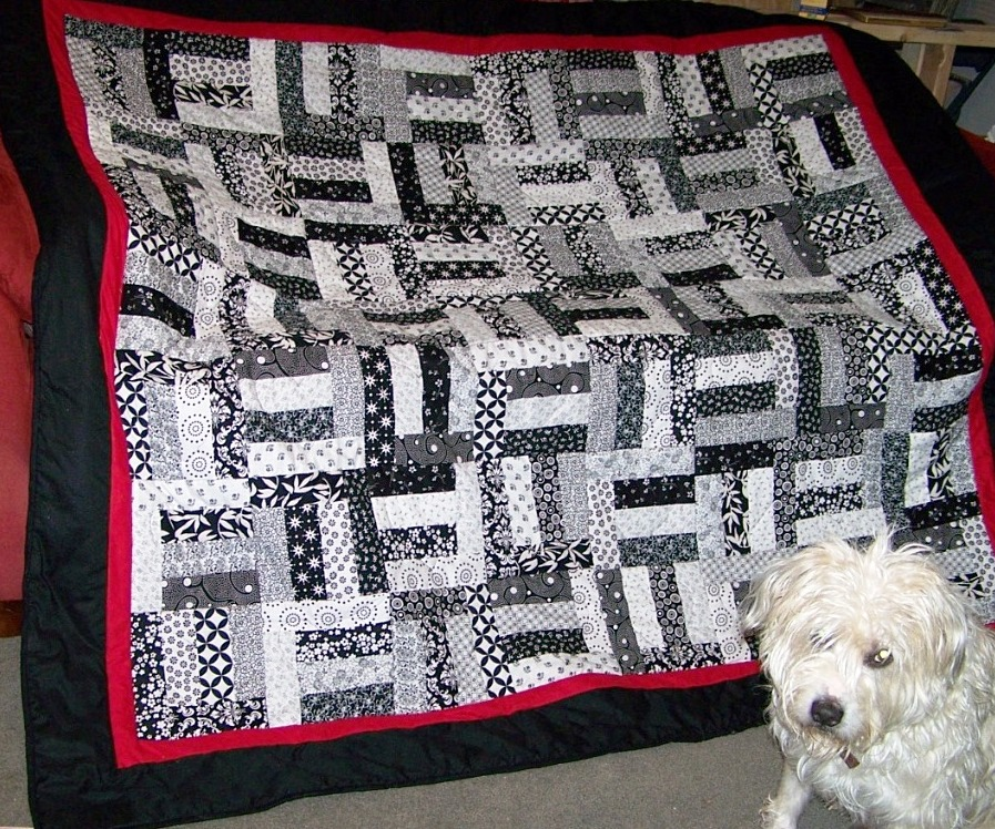 i hope they are still enjoying this quilt my dog at the time abner sure wanted to cuddle under it and keep it for himself my godfather has always made a