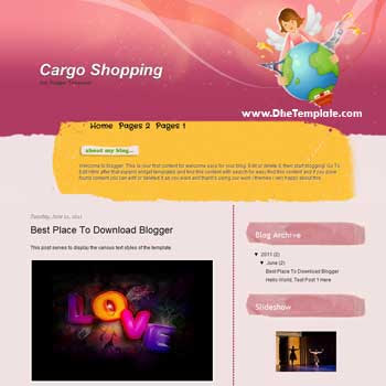 Cargo Shopping Blogger Template. blogger template for personal blog
