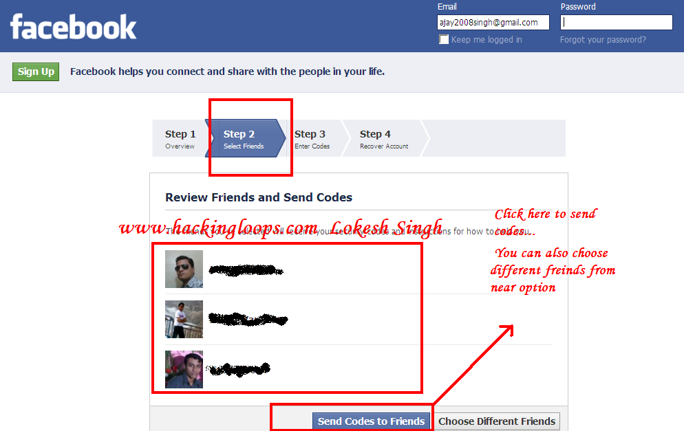 Hacking Facebook account passwordsnapshot 2