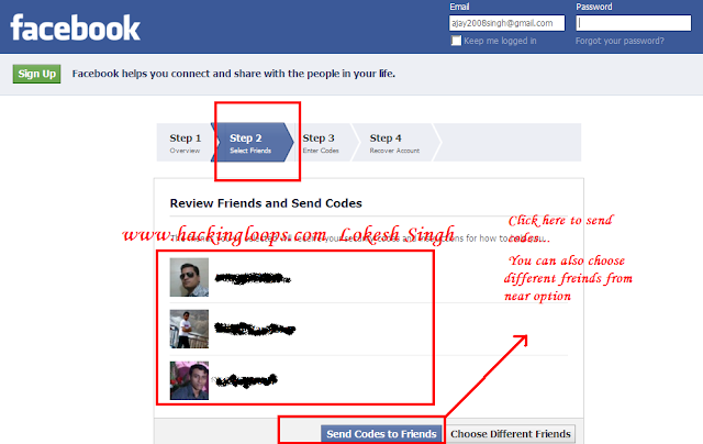 Facebook account password hacking