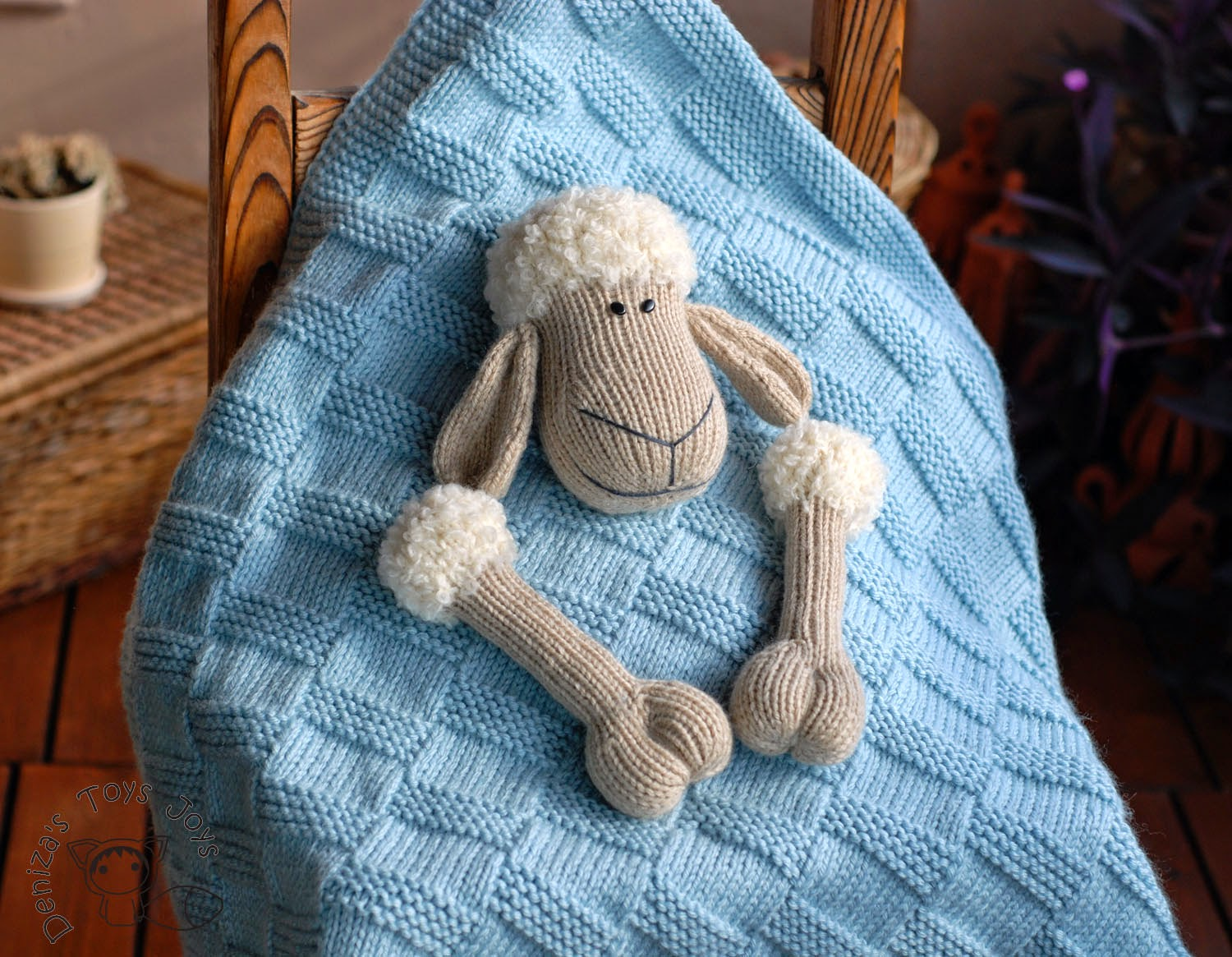 Polar Bear Rug Knitting Pattern : Denizas toys joys baby sheep toy blanket and polar bear rug