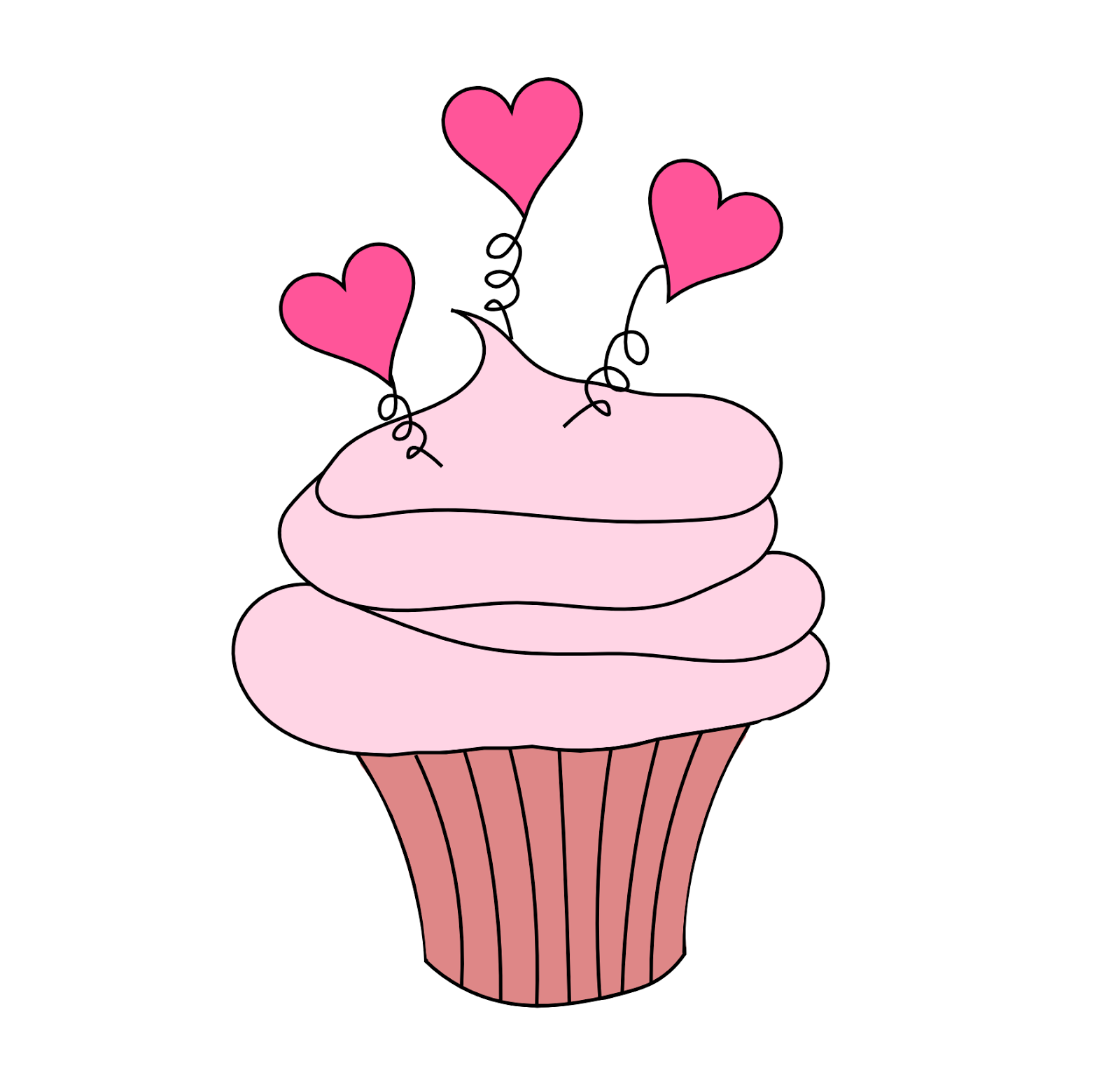 Lovely Girls Cupcakes Em PNG