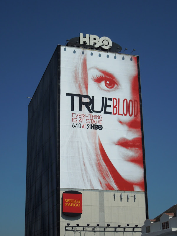 Giant True Blood 5 billboard Sunset Strip