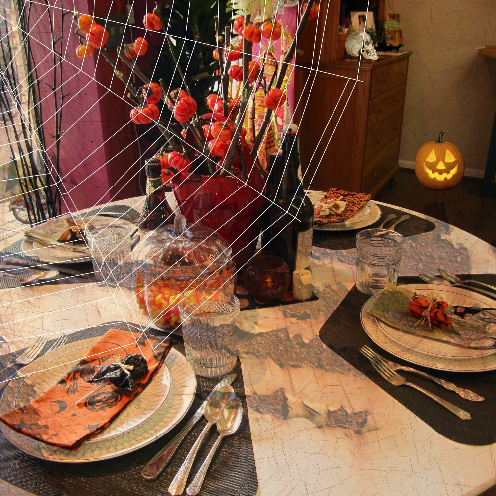 A Spooky Setting For Halloween. Weu0027ll Help You Decorate The Table ... Just  Add Your Cauldron Of Food!