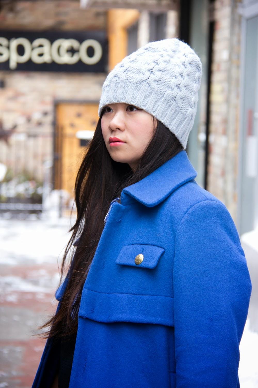 Club-Monaco-Pastel-Beanie, Joe-Fresh-Winter-Blue-Coat, Fashion-Blogger
