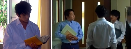 Chiaki reading / Chiaki talking to Hayakawa and Endo Yuya 遠藤雄弥 as Okochi Mamoru (Conducting)
