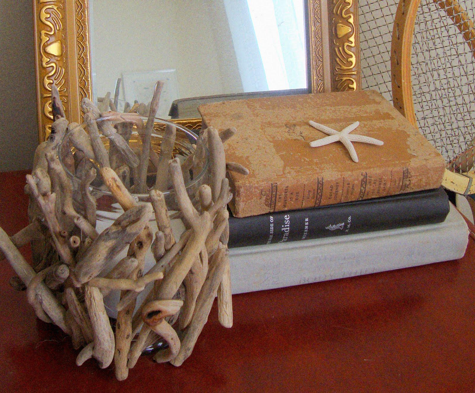 Sugar and spackle anthropologie hack diy driftwood hurricane - Manualidades para casa rustica ...