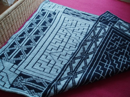 Reversible Celtic Patterns Baby Blanket