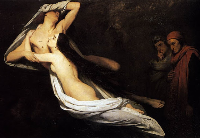Dante,Ary Scheffer,french painting