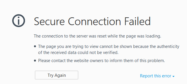 firefox connection was reset