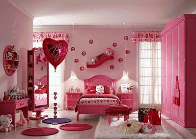 Decoraci n de dormitorios para ni as con - Dormitorio hello kitty ...