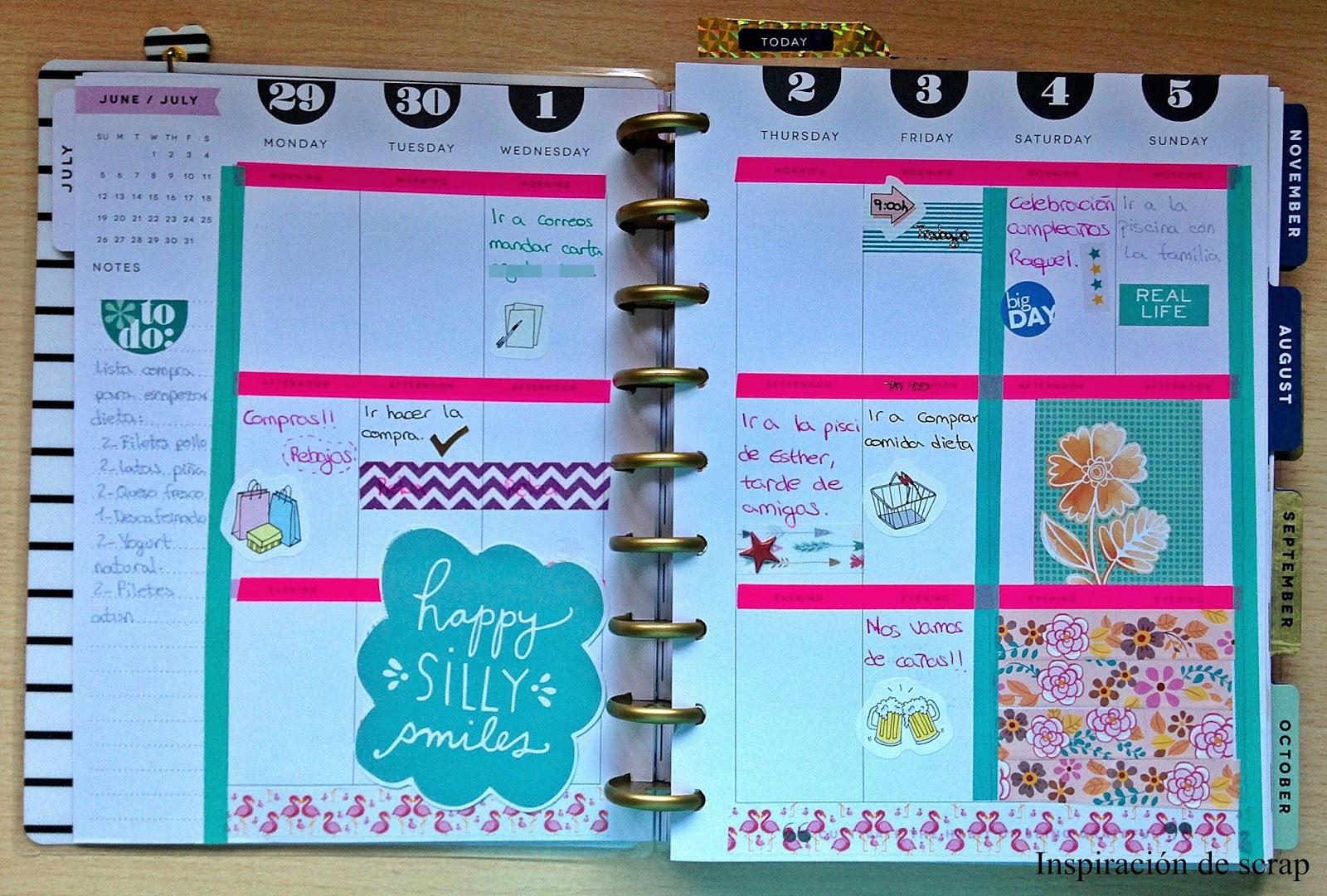 Tutorial decora tu agenda con soraya locas por el scrap - Pagina de decoracion ...