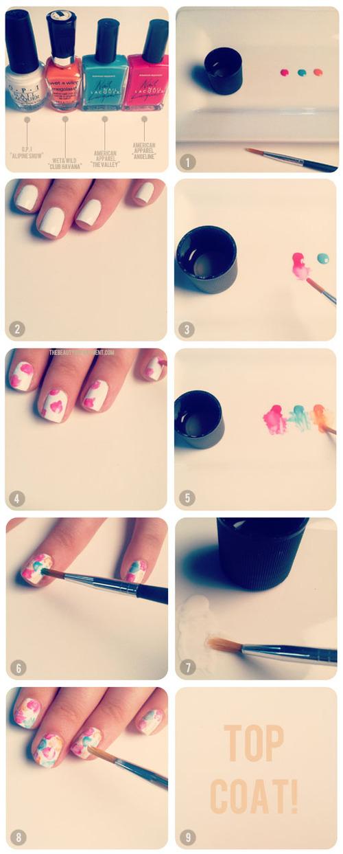 Как сделать маникюр на ногтях самой себе 84
