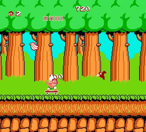 Adventure Island ; Captura de pantalla : Mundo 1