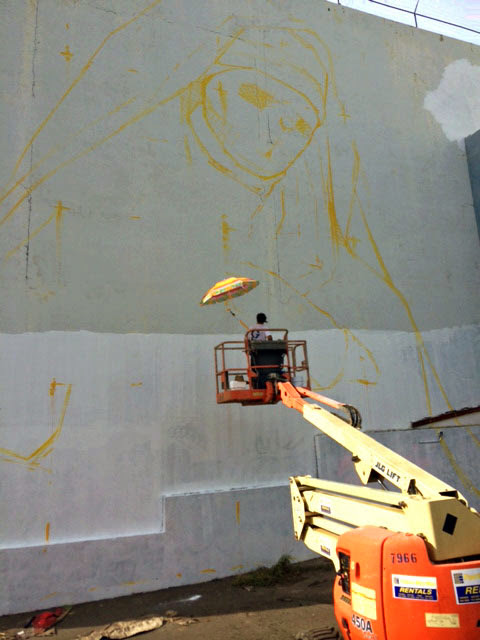 Work In Progress By Chilean Artist INTI For Los Muros Hablan '13 In Puerto Rico. 5
