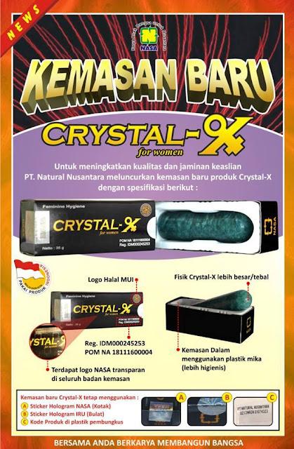 ciri - ciri crystal x asli