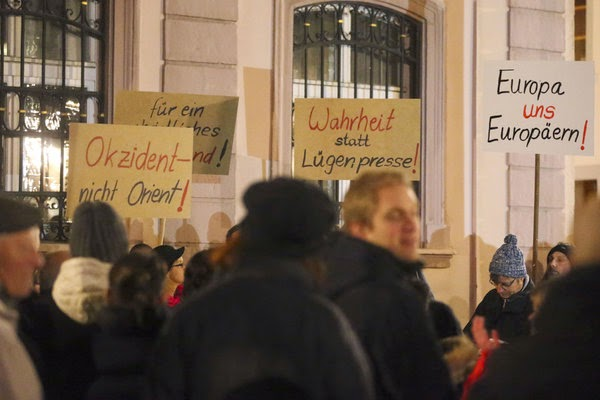 PEGIDA supporters do not believe lies press that lies press is word of the year