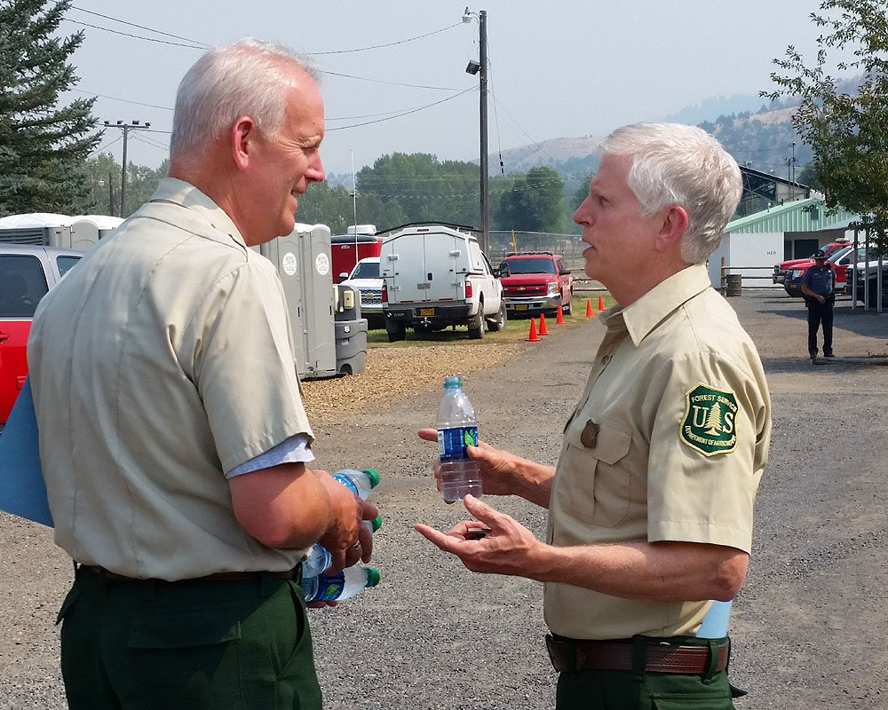 Forest Service Chief Tidwell, State Forester Decker