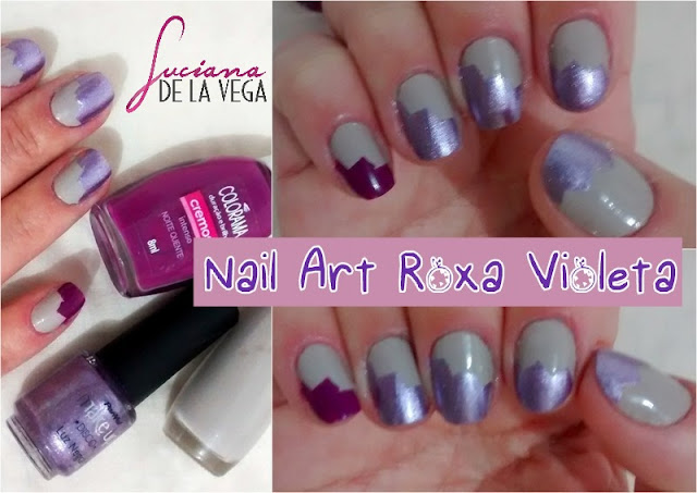 purple Nail Art Roxa Violeta