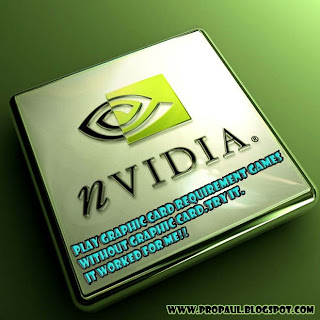 NOW YOU CAN PLAY ANY LATEST GAME WITHOUT GRAPHICS CARD!!!! JUST