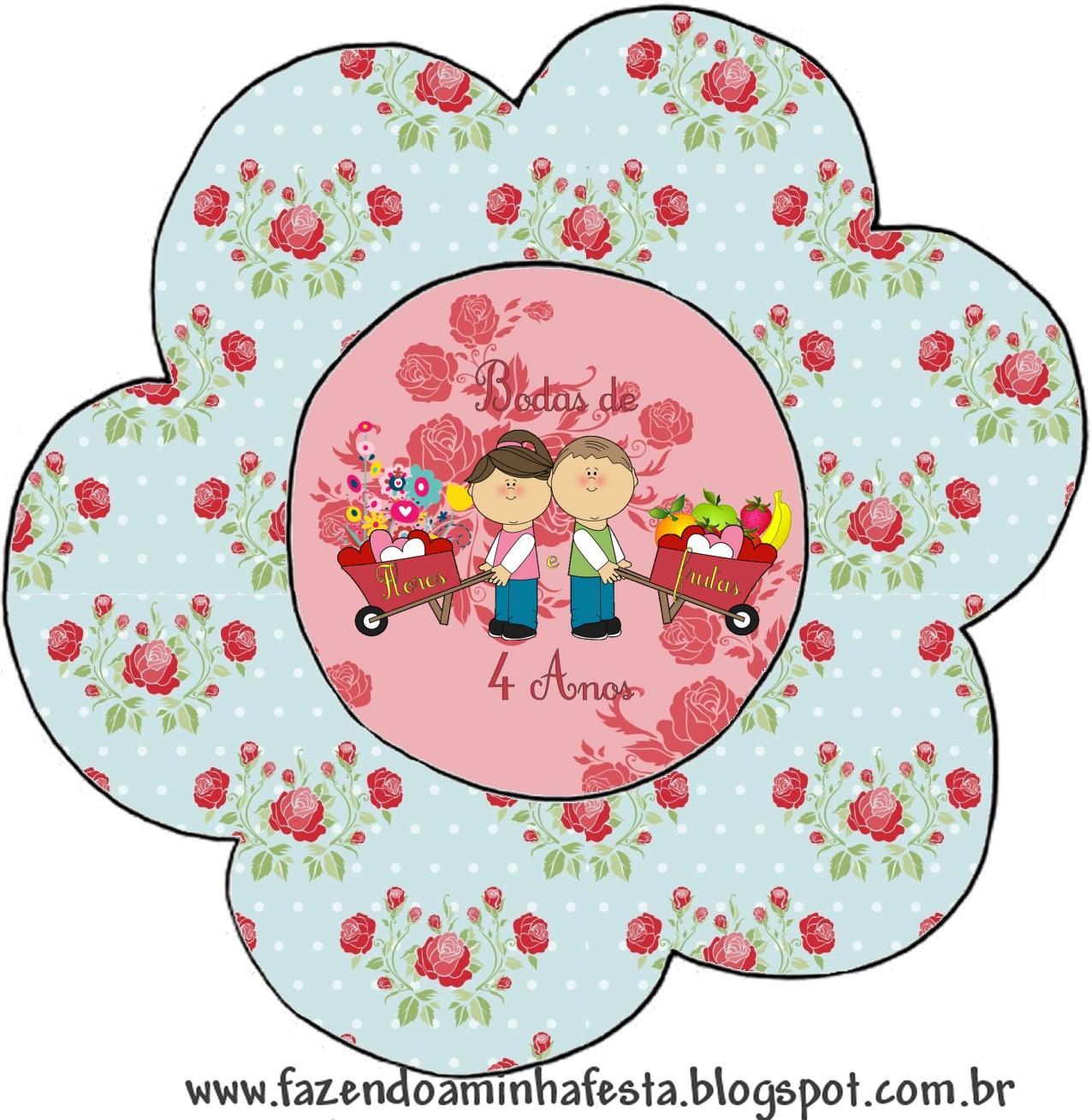 Fundos E Imagens Mini Kit Bodas E Flores E Frutas   4 Anos