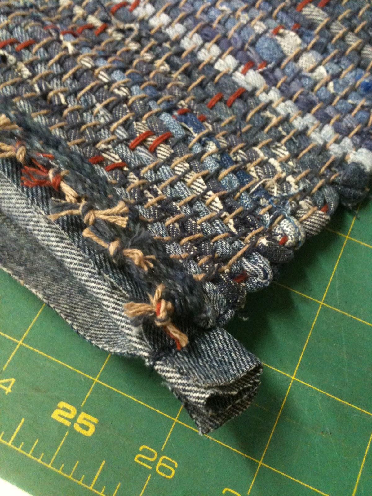 Sett Solutions And Binding A Denim Rag Rug