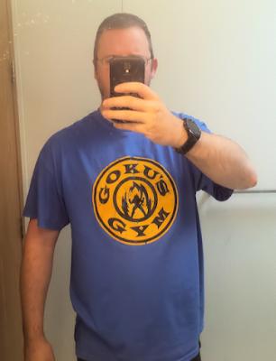 Goku's Gym T-Shirt selfie