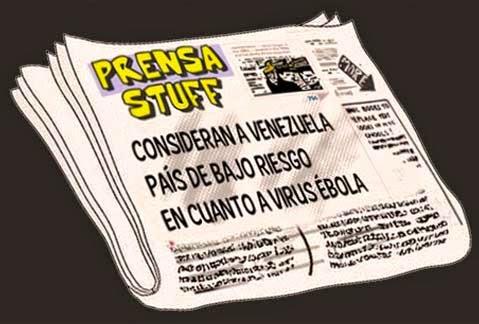 front pages Venezuela con bajo riesgo para el ébola