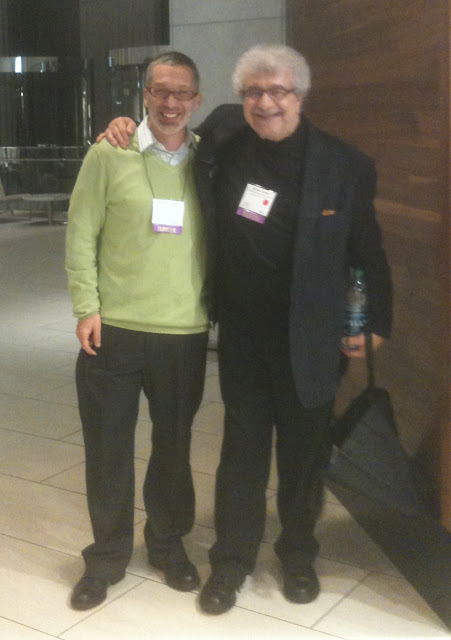 ... posing with one of my musical heroes, jazz arranger, Michael Abene.