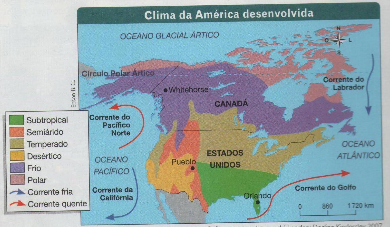 Canadá Mapa Clima - Canada mapa