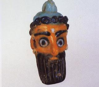 Pendant bead, 450-300 B.C. Length, 5.7 cm