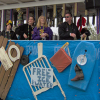 Hurricane Katrina Mardi Gras Float