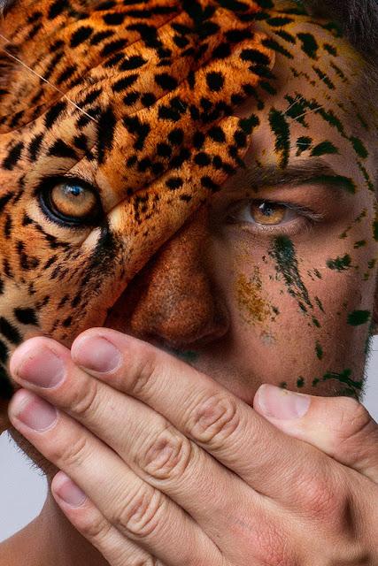 Faces of the Wild - Fotógrafo mescla rostos humanos com animais