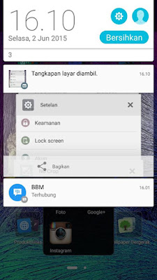 Menu Screen Lollipop Asus Zenfone 5