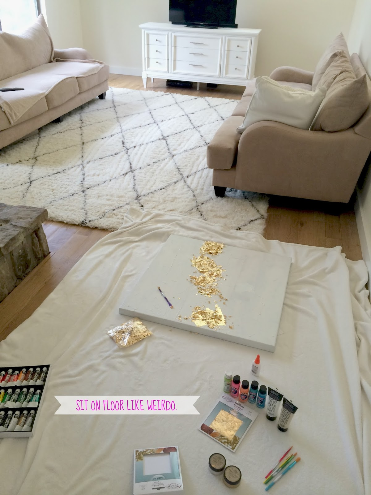 Livelovediy how to make gold leaf art round two next i applied the gold leaf the store was out of gold leaf sheets like i usually use so i had to use gold leaf flakes i wasnt sure how it would gumiabroncs Choice Image