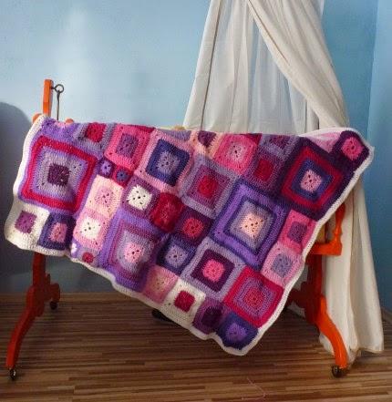 Klimtchen... Crazy Patchwork Baby Blanket - Free Pattern