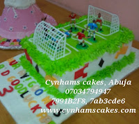 Foot-ball Field Cake