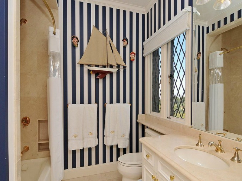 Nautical Bathroom D Cor For Contemporary Bathroom Interior Design