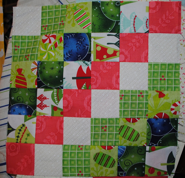 christmas scrappy trip around the world block