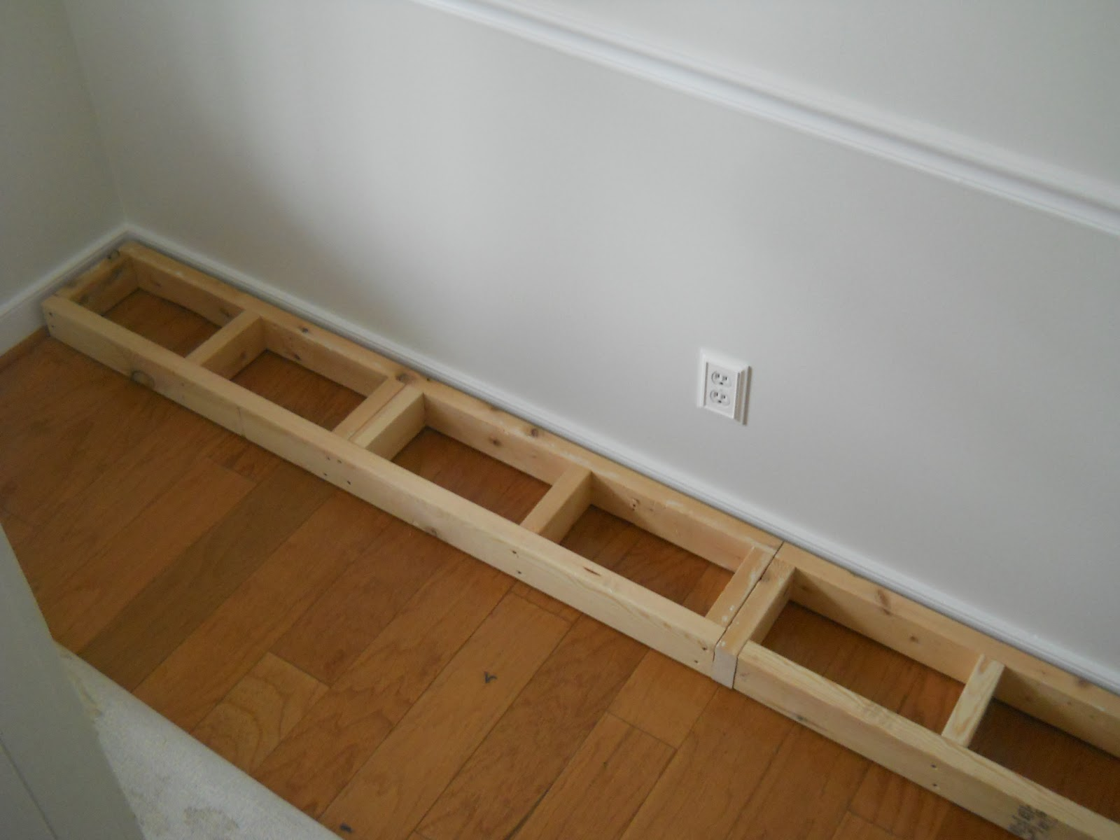 Chair Rail Shelving Part - 45: I Put Spacers Between The Outside Walls Of The Shelves And The Walls Of The  Room, Compensating For The Chair Rails. The Outside Box Of The Shelves Only  Goes ...