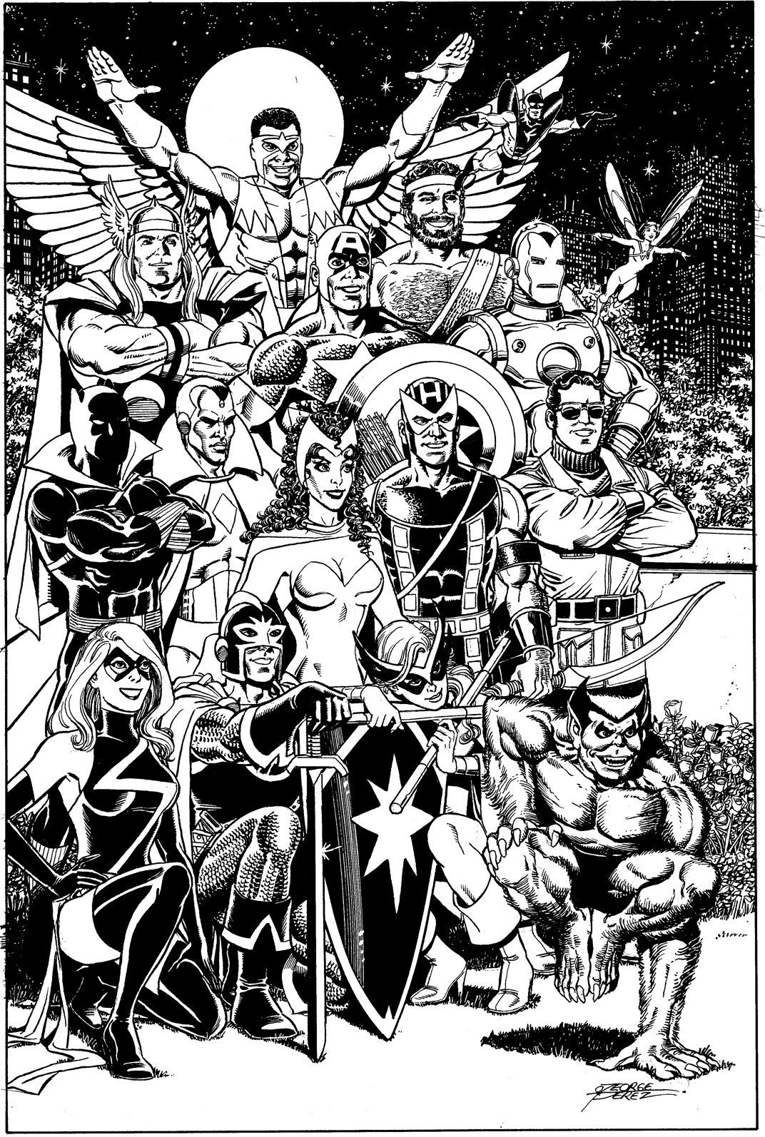 Book Cover Art Commission ~ Marvel comics of the s some george perez love